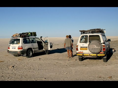 Makgadikgadi. The largest salt-flats on Earth. Mike Main and