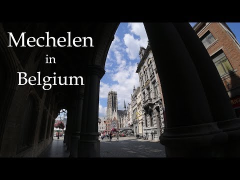 4K Europe bicycle #2. Mechelen in Belgium