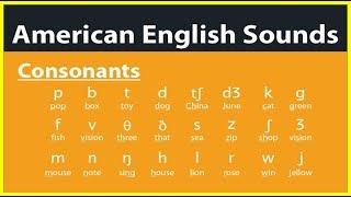 American English Pronunciation - The Consonants Sounds - Các phụ âm trong tiếng Anh