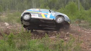 South Swedish rally 2019 Crashes & Action