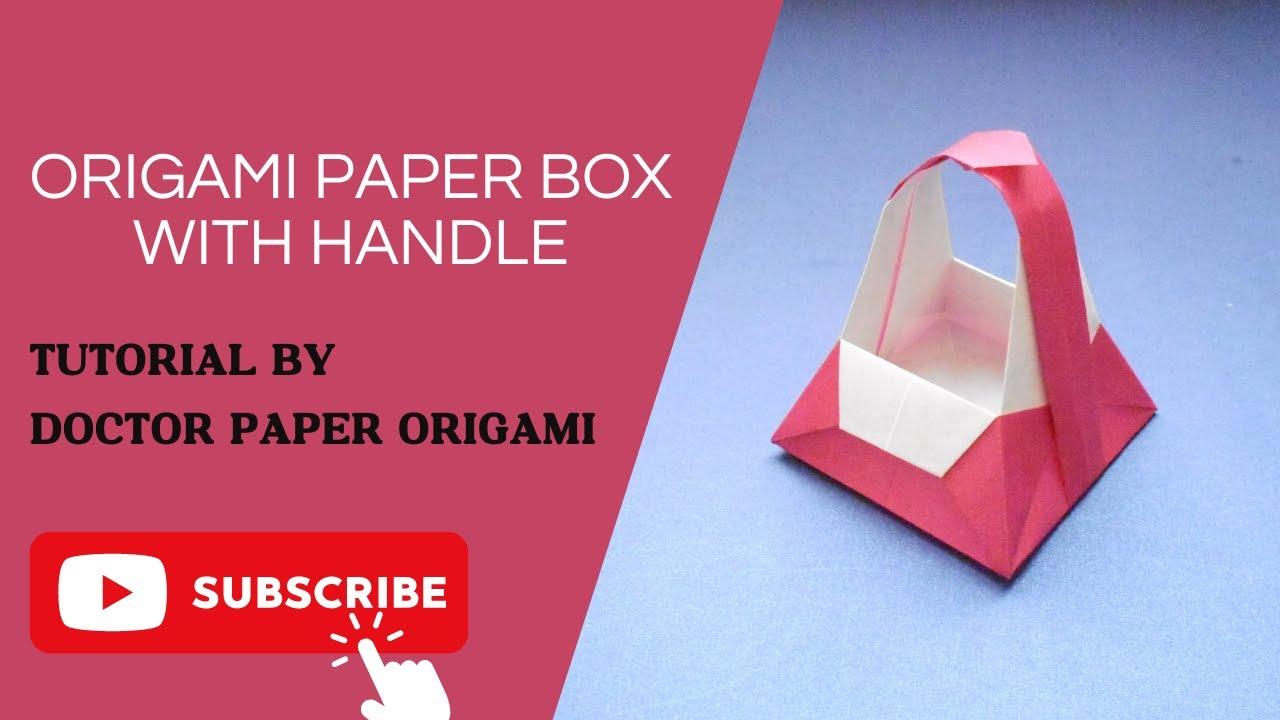 Origami box with handle caja con manija tutorial keiji origami box with handle caja con manija tutorial keiji kitamura sciox Gallery