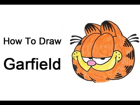 How To Draw Garfield Youtube
