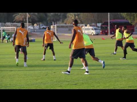 Ivory Coast Football team training in Abu Dhabi [jan 2015]