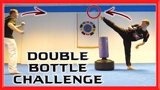 Martial Arts Double Bottle Challenge | Taekwondo Kick Challenge