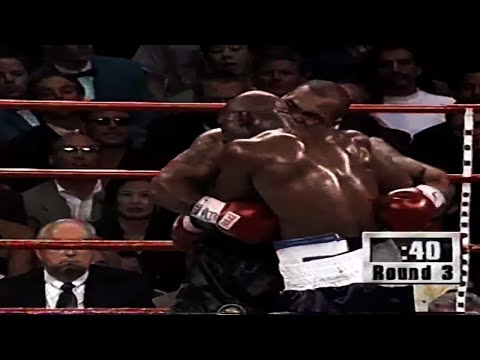 """Evander """"Real Deal"""" Holyfield vs """"Iron"""" Mike Tyson II (highlights)"""