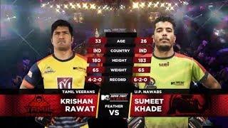 Tamil Veerans Vs U.P. Nawabs | MTV Super Fight League | Krishan Rawat Vs Sumeet Khade | SFL
