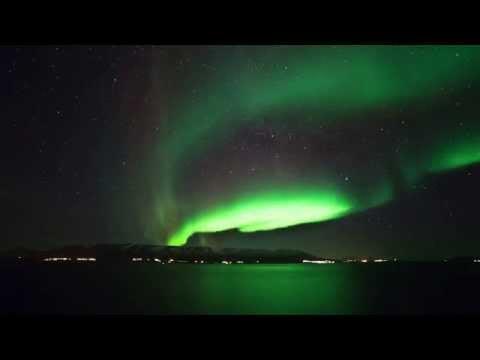 Northern Lights over Akureyri Iceland