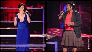Lionel Cole Vs Sabrina Batshon: Beauty And The Beast | The Voice Australia 2014