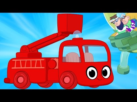 My Red Fire Truck And The Glue Bandits! - My Magic Pet Morphle Truck and Vehicle Videos For Kids