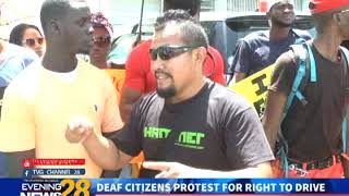 DEAF CITIZENS PROTEST FOR RIGHT TO DRIVE  2/18/2019