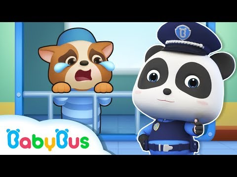 Panda Policeman Catches Bad Guy | Super Panda's Mission | Magical Chinese Characters | BabyBus