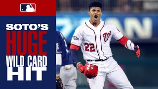 Juan Soto puts Nationals ahead with HUGE single that clears the bases | NL Wild Card