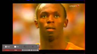 Усейн Болт 200 метров Мировой рекорд: 19,19 секунд!!!