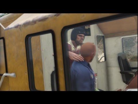 GTA V: Train Hijacking