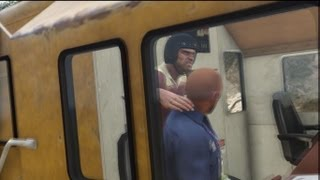 GTA V: Train Hijacking