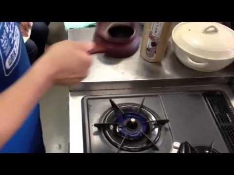 roasting green tea by hand