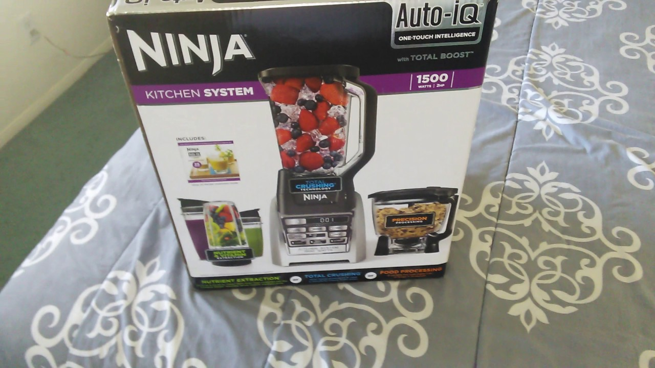 NINJA 1500 WATT KITCHEN SYSTEM ( AUTO-IQ) ONE TOUCH INTELLIGENCE BLENDER  REVIEW