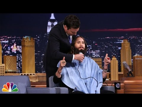 Jimmy Trims Jared Leto's Beard