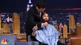 Jimmy Trims Jared Leto