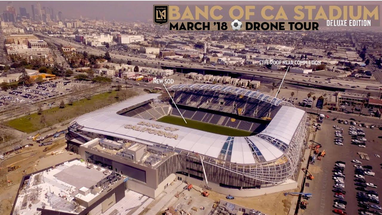 Lafc Banc Of Ca Stadium  March '18 Drone Construction
