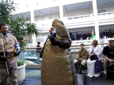 Jabba the Hutt, Fan in Costume, Star Wars Celebration V ... Jabba The Hutt Costume Commercial