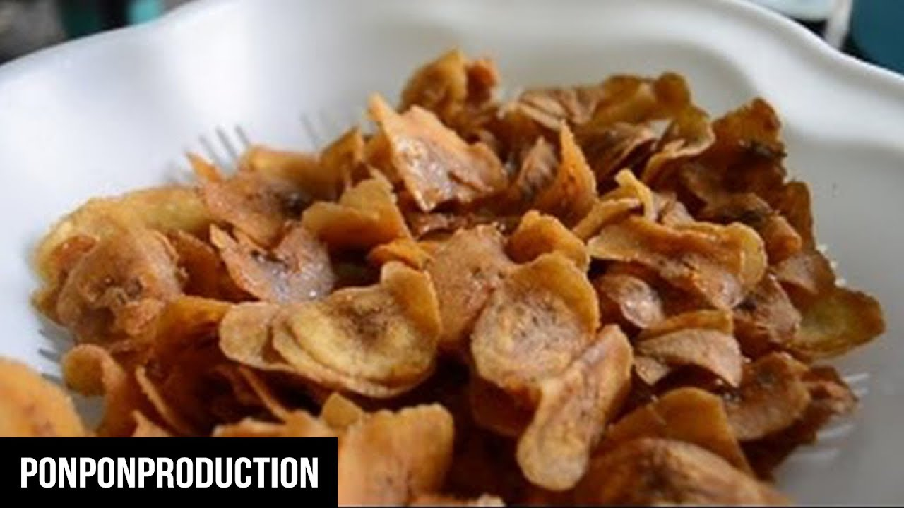 how to make yellow banana chips