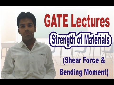GATE Lectures, Strength of Materials. Shear force and bending moment