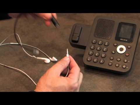 Iphone And Smartphone Headset To Office Phone 3 5mm To Rj9 Youtube