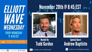 The Elliott Wave Wednesday Live Stream w/ Todd Gordon - 11/20/19 Special Guest Andrew Baptiste