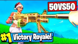 AND THE METEORITE? THE BEST 50 VS 50 WITH NEW SKIN AND NEW WEAPON!! FORTNITE BATTLE ROYALE
