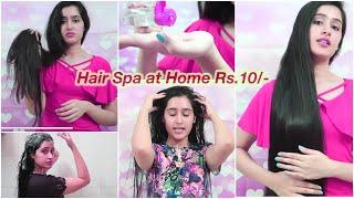 Parlour Se Bhi Acha HAIR SPA at Home | No kharch +100% Result - silky, shiny hair