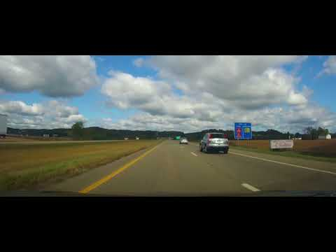 Driving from Cambridge, Ohio to Canton, Ohio on I77