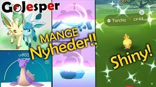 MANGE Nyheder + Torchic Community Day!! (Dansk Pokémon GO)