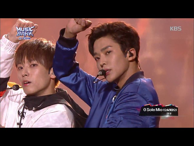 뮤직뱅크 Music Bank in chile O Sole Mio(오솔레미오) - SF9  20180411