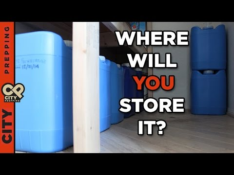 How to store water for emergencies (containers and places to put them)