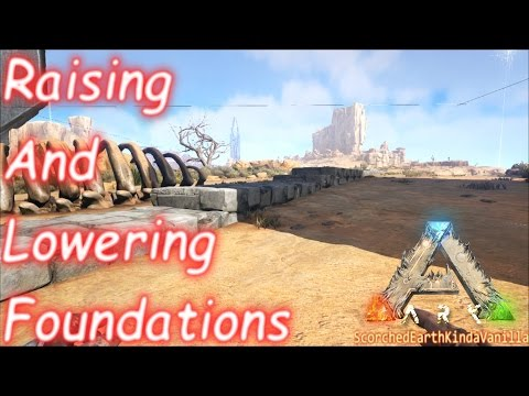 ark how to build on an uneven ground