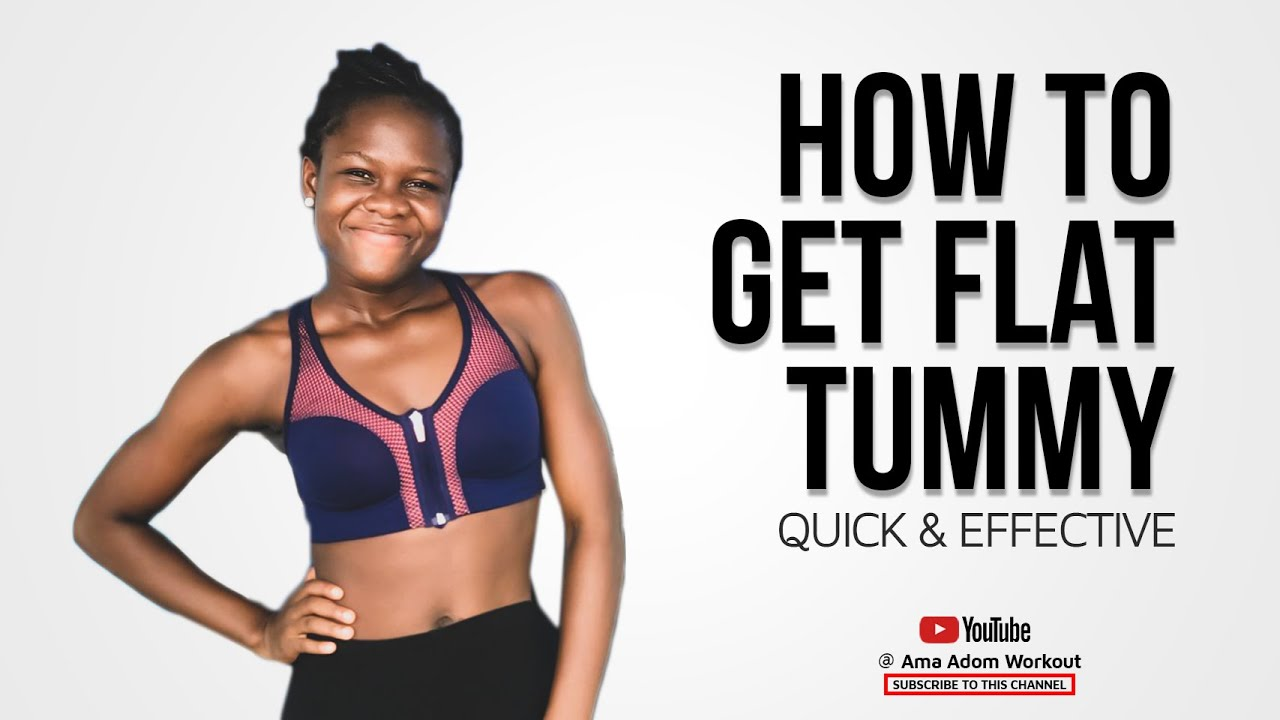 HOW TO GET A FLAT TUMMY | Quick and effective (6 exercises for flat stomach at home)