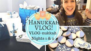 Hanukkah VLOG! Jewish Family Celebrates Hanukkah! VLOG-nukkah Night 1 & 2
