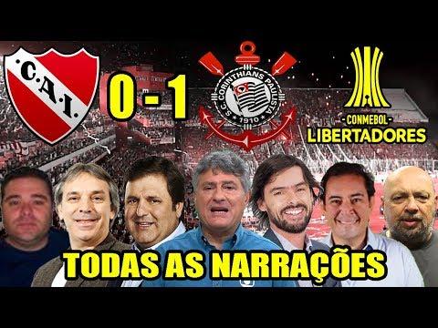 Todas as narrações - Independiente 0 x 1 Corinthians / Libertadores 2018 (10 Narrações)
