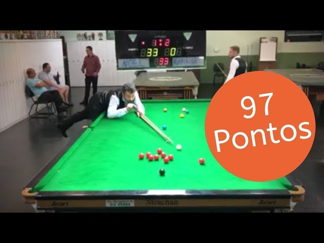 Tacada de 97 pontos snooker - Comentando a Tacada