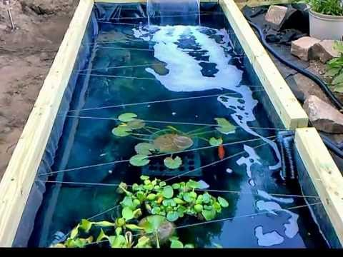 Full download koi pond above ground wooden for Wooden koi pool