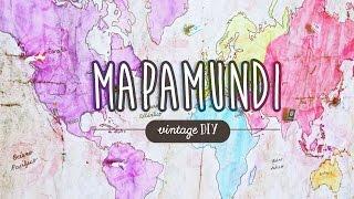 Mapamundi vintage deco + mis 7 tips básicos de viaje ✎ Craftingeek