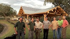 3968 Sq. Ft. Log Pavilion Assembly, Staining, Winter Springs Park Florida
