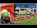 RV GETS BOOTED!! (+ Washing an RV Motorhome)