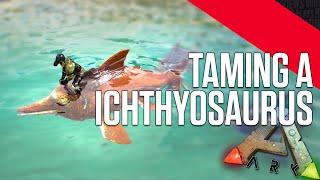 ARK: Survival Evolved - Taming a Ichthyosaurus (Dolphin)