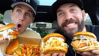 JOSH PECK'S RETURN TO THE MUKBANGS!! (MASSIVE CHICKEN SANDWICHES!!)