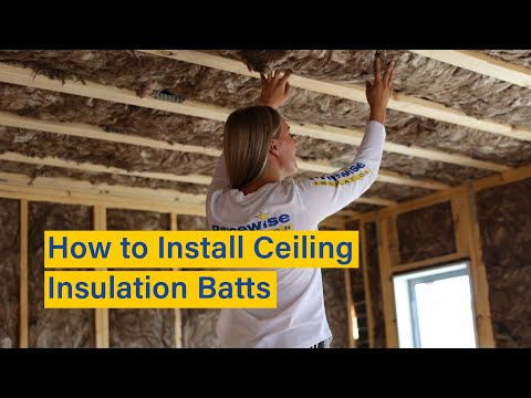 How To Install Ceiling Insulation Batts In A New House - Before Plaster