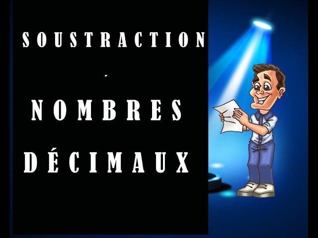 Soustraction de nombres décimaux : cours et exercices de maths.