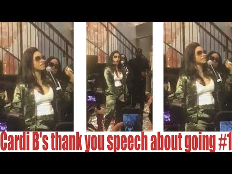Cardi Bs thank you speech about going #1