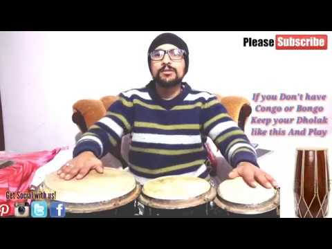 How To Play Bongo, Congo & Djembe |Important For Dholak Player|Beginner conga Lesson
